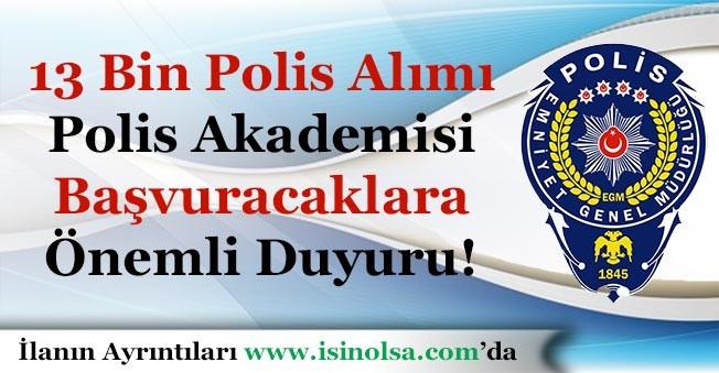 21. Dönem POMEM 13 Bin Polis Alımı Başvuru Yapacaklara Önemli Duyuru Yayımlandı!