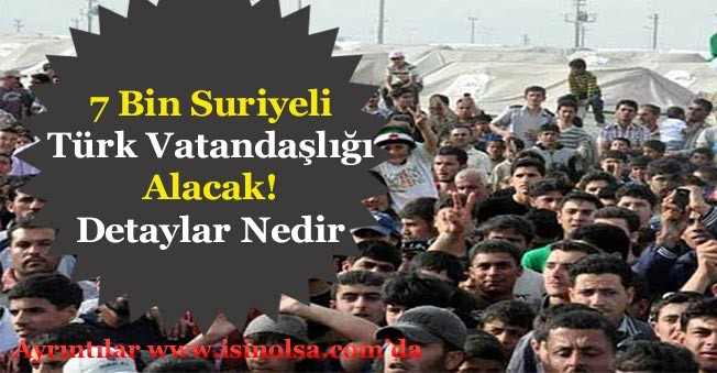 7 Bin Suriyeliye Türk Vatandaşlığı Verilecek! Suriyeliler Kutlamalara Başladı