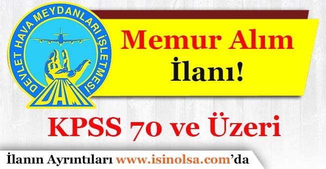 Devlet Hava Meydanlar İşletmesi (DHMİ) Memur Alımı İlanı Yayımlandı!