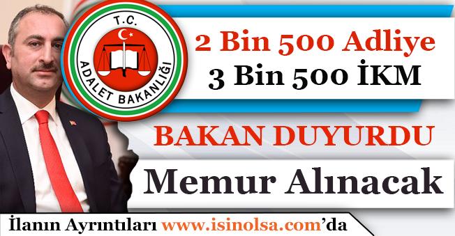 2 Bin 500 Adliye Memuru ve 3 Bin 500 İKM Gardiyan Alımı Yapılacak!