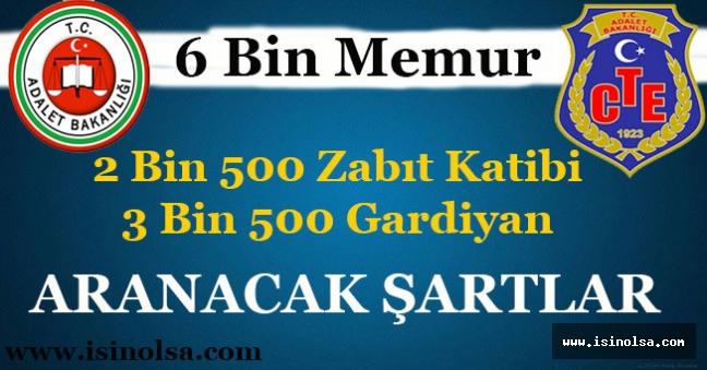 Adalet Bakanlığı 6 Bin Zabıt Katibi ve İKM Memuru Alacak! Aranacak Şartlar Nedir