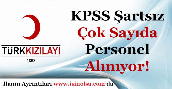 Türk Kızılayı KPSS Şartsız Memur Personel Alımı Yapıyor!