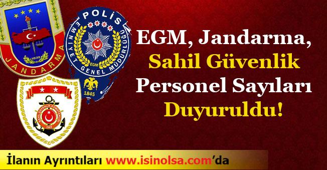 EGM Jandarma ve Sahil Güvenlik Komutanlığı Personel Sayıları Duyuruldu!