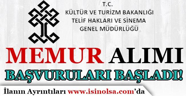 Kültür Bakanlığı Memur Alımı Başvuruları Başladı!
