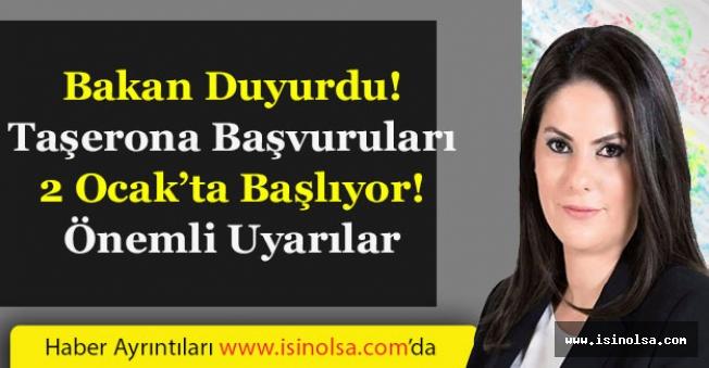 Çalışma Bakanı Açıkladı! Taşerona Kadro Başvuruları 2 Ocak'ta Başlıyor!