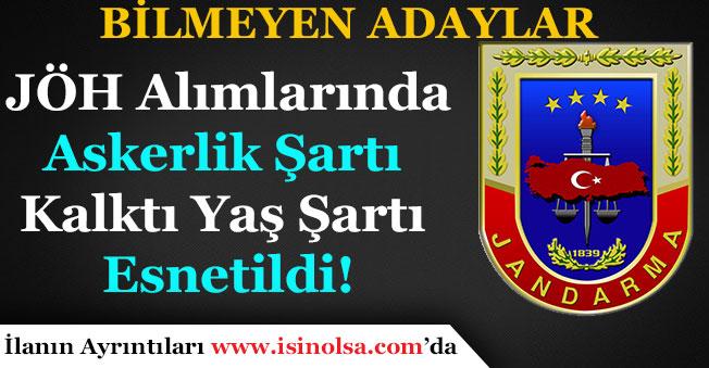 Jandarma Özel Harekat (JÖH) Alımı Askerlik Şartı Kalktı! Yaş Şartı Esnetildi!
