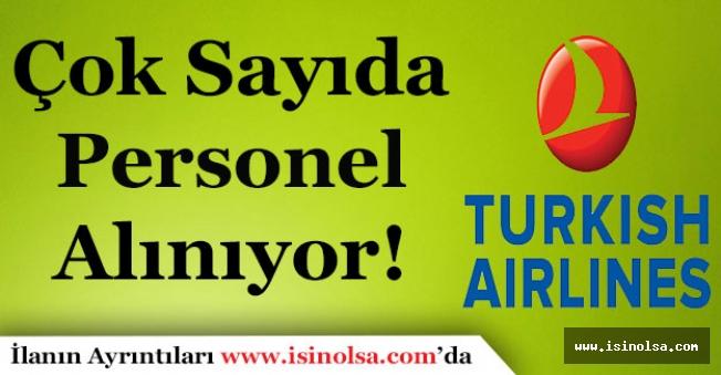 Türk Hava Yolları Çok Sayıda Personel Alımı Yapıyor!