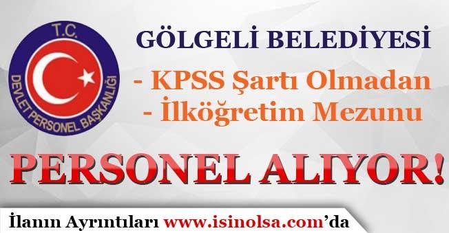 Belediye KPSS Şartı Olmadan Kadrolu Personel Alımı Yapıyor! İlköğretim Mezunu