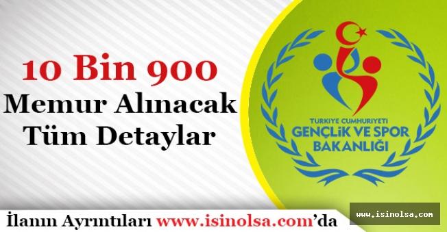 Gençlik ve Spor Bakanlığı 10 Bin 900 Memur Alacak! Alım Yapılacak Kurumlar ve Detaylar