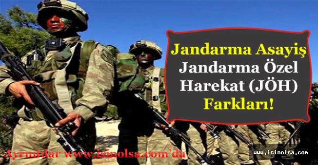 Jandarma Asayiş ve Jandarma Özel Harekat Farkları Nelerdir?