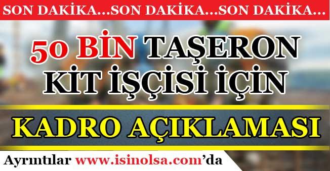 Kılıçdaroğlu'dan 50 Bin Taşeron KİT İşçisi İçin Kadro Açıklaması Geldi