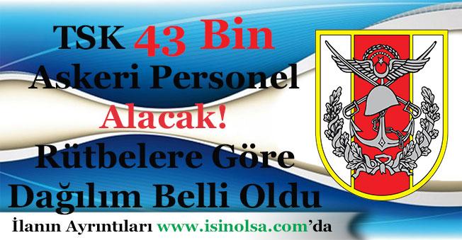 TSK 43 Bin Askeri Personel Alacak! Rütbelere ve Pozisyonlara Göre Dağılım Belli Oldu