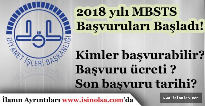 2018 Diyanet İşleri Başkanlığı MBSTS Başvuruları Başladı