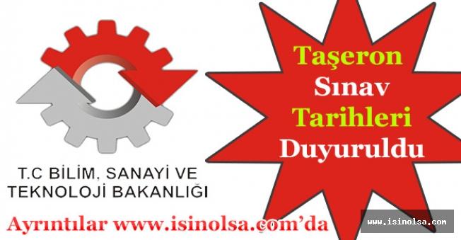 Bilim ve Teknoloji Bakanlığı Taşeron Sınav Tarihi Açıklandı!
