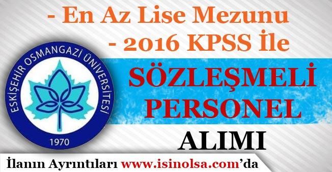 Eskişehir Osmangazi Üniversitesi Sözleşmeli Hemşire Alım İlanı Yayımladı!