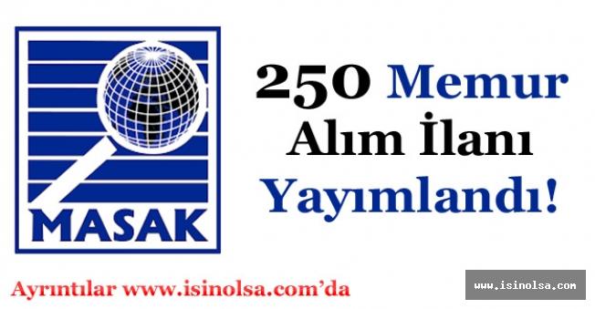 MASAK 250 Memur Alımı İlanı Yayımlandı!