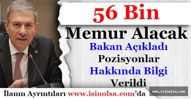 Sağlık Bakanı Müjdeledi! 56 Bin Memur Alımı Yapılacak Pozisyonlar Verildi