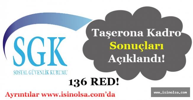 Sosyal Güvenlik Kurumu (SGK) Taşerona Kadro Başvuru Sonuçlarını Açıkladı!