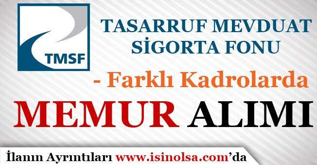TMSF 20 Memur Personel Alım İlanı Yayımlandı!