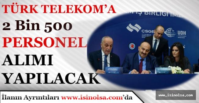 İŞKUR; Türk Telekom'a 2 Bin 500 Personel Alınacak!