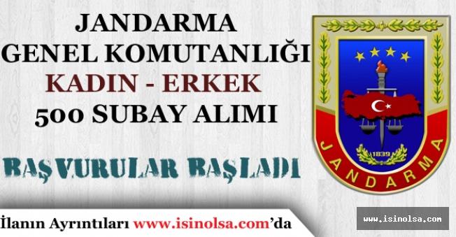 Jandarma Genel Komutanlığına 60 KPSS ile 500 Subay Alımı Ön Başvurular Başladı!
