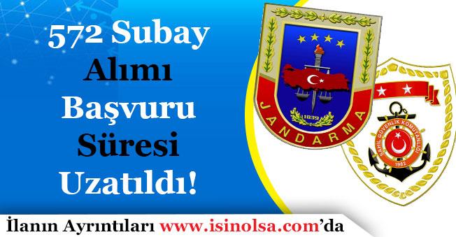 Jandarma ve Sahil Güvenlik 572 Subay Alımı Başvuru Süresi Uzatıldı!