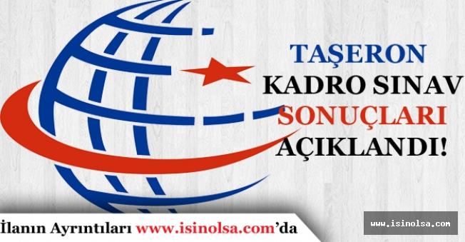 Ulaştırma Bakanlığı Taşeron Kadro Sınav Sonuçları Açıklandı.