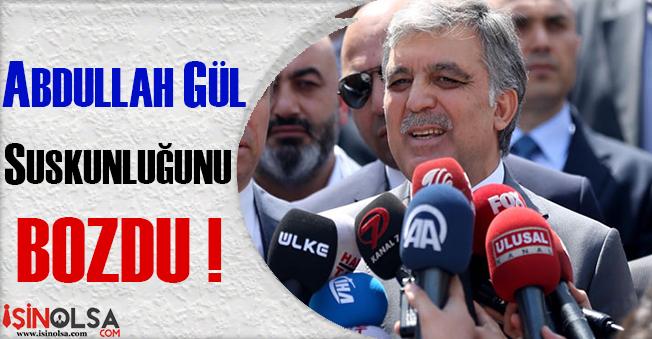 Abdullah Gül'den Cuma Namazı Çıkışı Flaş Açıklamalar!