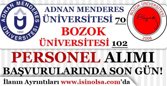 Adnan Menderes 70 Bozok Üniversitesi 102 Personel Alımında Son Gün!
