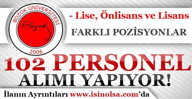 Bozok Üniversitesi 102 Personel Alımı Yapıyor!