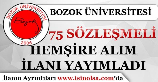 Bozok Üniversitesi Sözleşmeli 75 Hemşire Alım İlanı Yayımladı!