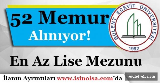 Bülent Ecevit Üniversitesi En Az Lise 52 Memur Alımı Yapıyor!