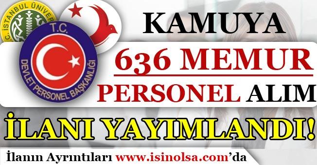 DPB Kamuya 636 Memur Personel Alım İlanı Yayımladı! Kimler Başvuru Yapabilir?