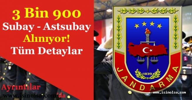 Jandarma Genel Komutanlığı 3 Bin 900 Subay ve Astsubay Alımı Yapıyor!