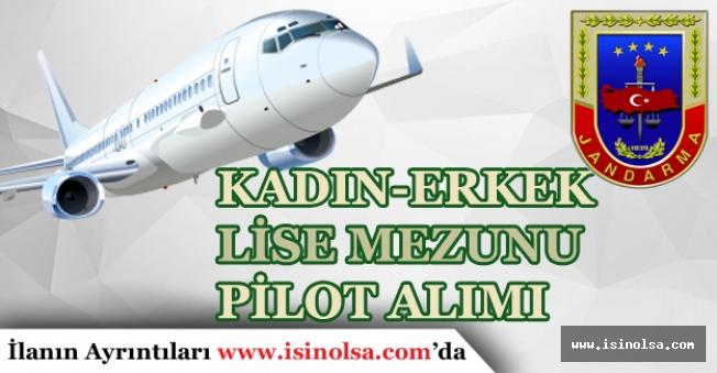 Jandarma Genel Komutanlığı Lise Mezunu Kadın-Erkek Pilot Alımı Yapıyor!