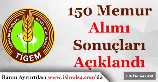 TİGEM 150 Sözleşmeli Memur Alımı Sonuçları Açıklandı!