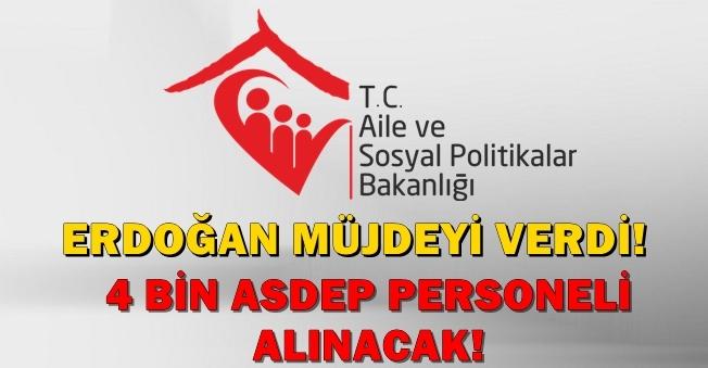 4 Bin ASDEP Personeli Alınacağı Müjdesi Aile Bakanlığından Geldi!