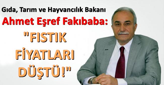 """Ahmet Eşref Fakıbaba: """"Fıstık Fiyatları Düştü"""" Dedi!"""