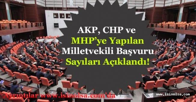 AKP, CHP ve MHP'ye Yapılan Milletvekili Başvuru Sayıları Açıklandı!