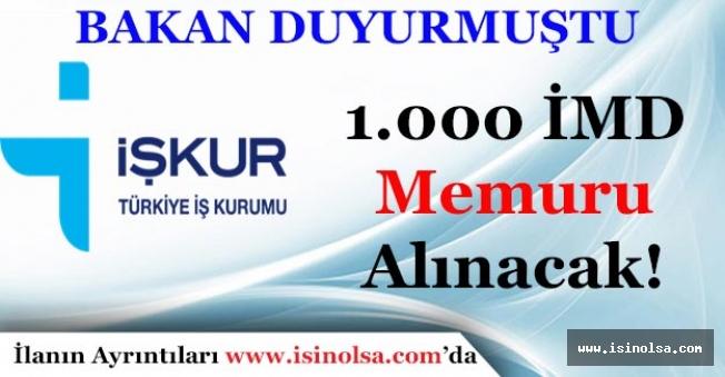 İŞKUR Bin (1.000) İş ve Meslek Danışmanı İMD Memuru Alımı Yapacak!