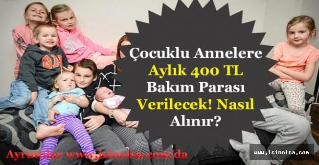 İŞKUR'dan Çocuğu Olan Annelere Aylık 400 TL Bakım Desteği Verilecek! Nasıl Başvurulur