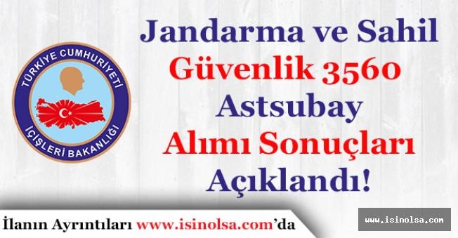 Jandarma ve Sahil Güvenlik Komutanlığı 3 Bin 560 Astsubay Alımı Sonuçları Açıklandı!