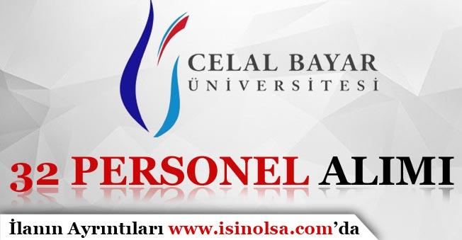 Manisa Celal Bayar Üniversitesi Sözleşmeli 32 Personel Alımı