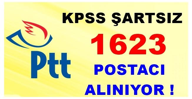 PTT KPSS Şartsız 1623 Postacı Alıyor!