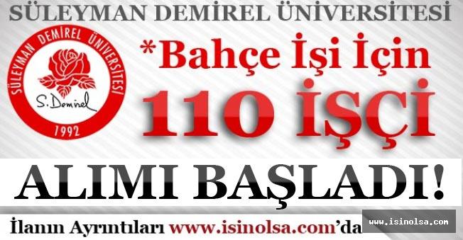 Süleyman Demirel Üniversitesi 110 Personel Alımı Başvuruları Başladı!