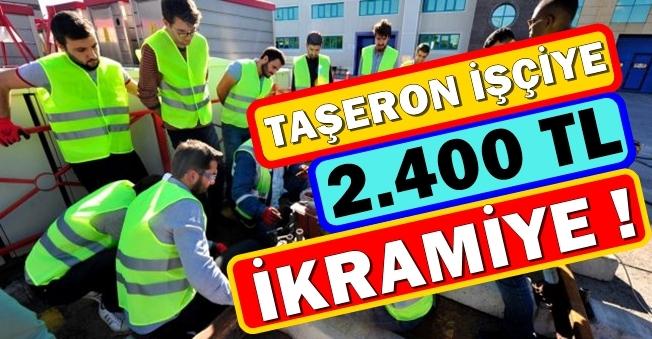 Taşeron İşçinin Yüzü Güldü! En Az 2 Bin 400 TL İkramiye Verilecek!