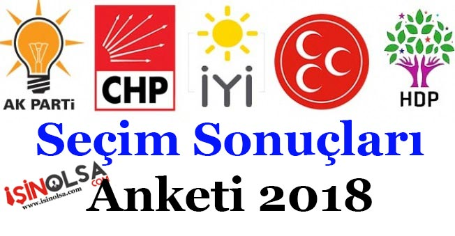 24 Haziran Milletvekili Seçim Sonuçları Anket!AKP, CHP, MHP, İYİ Parti, HDP Kaç Oy Alıyor?
