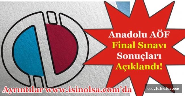 Anadolu Üniversitesi AÖF Final Sınav Sonuçları Açıklandı! (26 Mayıs - 27 Mayıs)