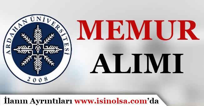 Ardahan Üniversitesi Memur Alımı 2018