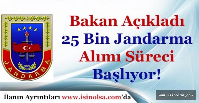 Bakan Açıkladı: 25 Bin Jandarma Alımı Başvuru Süreci Başladı!